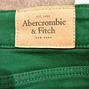 Abercrombie & Fitch Jeans - Abercrombie and Fitch Green Skinny Jeans